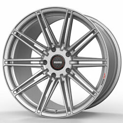 19 Momo Rf-10s Silver 19x9 19x11 Concave Wheels Rims Fits Infiniti G35 Coupe