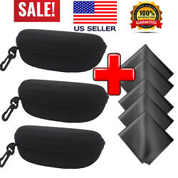 Eyeglass Case Portable Sunglasses Case Black Fit for Oakley Ran Ban Sunglasses
