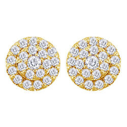 1/2cttw Round Diamond Cluster Stud Earrings In 14k Yellow Gold Christmas Special