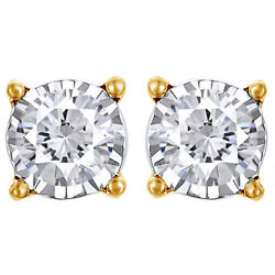 3/4cttw Round Cut Diamond Stud Earrings In 14k Yellow Gold Christmas Special