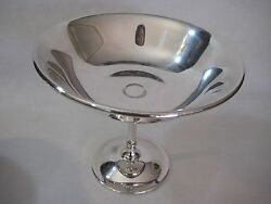 Old Vintage Italy Wa Silverplate Pedestal Candy Dish Bowl 6 Tall X 7 1/4 Dia