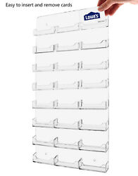 Business Gift Card Holder 24 Pocket Clear Acrylic Wall Mount Display Qty 12