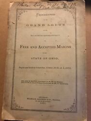 1873 Proceedings Of The Grand Lodge Of Free And Accepted Masons Of Ohio