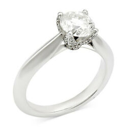 Christmas Special 1-58 Cttw Certified Diamond Engagement Ring 18k White Gold