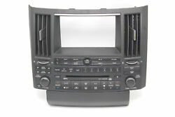 Infiniti FX35 FX45 Radio Audio CD Tape Climate Control Panel  28936-CG710, 04-05