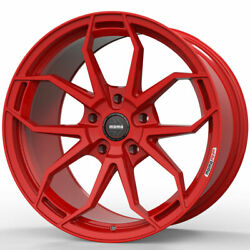 19 Momo Rf-5c Red 19x8.5 19x10 Forged Concave Wheels Rims Fits Tesla Model S