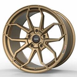20 Momo Rf-5c Gold 20x9 20x10.5 Forged Concave Wheels Rims Fits Audi Allroad