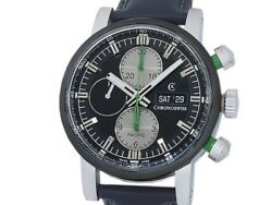 Auth Chronoswiss Pacific Chronograph Ch7585b Bk Ss Auto Menand039s Watcha51308