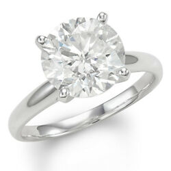 Christmas Special Diamond Solitaire Engagement Ring 4 Cttw in 14k White Gold