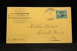 Illinois Annawan 1889 Circa General Store Cover Fancy Wheel Of Fortune Cancel