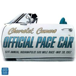 1967 Camaro Pace Car Door Decal Kit Lh And Rh Gold Blue Black