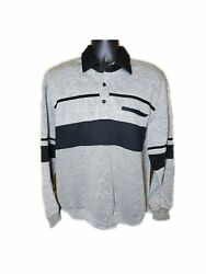 Men's Classic By Palmland Color Block Long Sleeve Polo Size Large