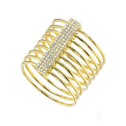 1/5 Ct Round Cut Solid 14k Yellow Gold Slink Ring For Womenand039s