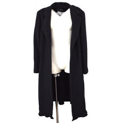 02a 44 Cashmere Front Opening Coat Jacket Gown Dark Purple Ak38348j