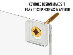 Acrylic Keyholes Attachments 3/8 Clear Attachment Hanging Hardware Qty 1000