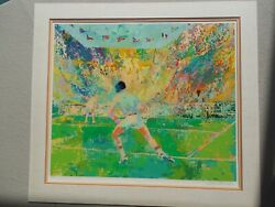 Leroy Neiman Stadium Tennis Hand Signed And Numbered