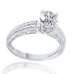 2.80ct Simulated Ideal Cut Round Diamond Vintage Ring 18k White Gold