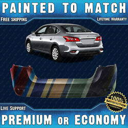 New Painted To Match Rear Bumper Cover Fascia For 2016-2019 Nissan Sentra 16-19