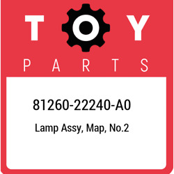 81260-22240-a0 Toyota Lamp Assy Map No.2 8126022240a0 New Genuine Oem Part