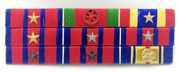 Cambodia Army Officer Military Medal Decoration Honors Ribbon Bar Rack 7