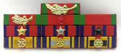 Cambodia Army Officer Military Medal Decoration Honors Ribbon Bar Rack 9
