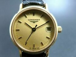 Rare Longines Womens Les Grandes Classiques 7098 18ct Gold Plated Watch