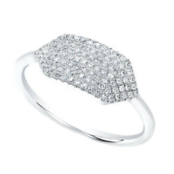 1/5 Ct Round Cut Diamond Solid 14k White Gold Buckle Ring