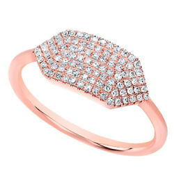 1/5 Ct Round Cut Diamond Solid 14k Rose Gold Buckle Ring