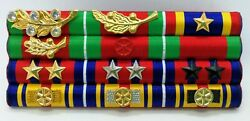Cambodia Army Officer Military Medal Decoration Honors Ribbon Bar Rack 16
