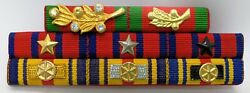 Cambodia Army Officer Military Medal Decoration Honors Ribbon Bar Rack 19