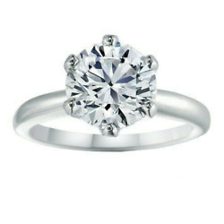 White Gold Plated 1.01 Ct Round-cut Diamond Engagement And Wedding Ring For Her