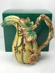 Fitz And Floyd Classics Harvest Heritage Fall Gourd Pitcher 68/605 Discontinued