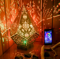 Interior Smart Led Lamp Cristal Power Of Spirits Psychedelic Geometry Light