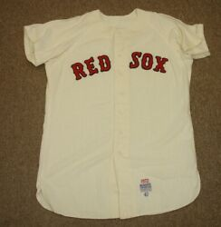 1972 Cecil Cooper Boston Red Sox Game Used Rookie Home Flannel Jersey 17