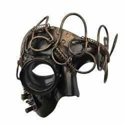 Copper Steampunk Phantom Style Half Masquerade Masks for Men