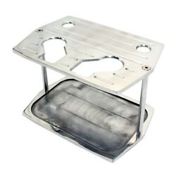 Optima Group 34/78 Ball Milled Aluminum Battery Hold Down Tray Red Yellow Top
