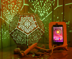 Wooden Led Smart Lamp Power Of Spirits Wooden Psychedelic Geometry Night Lamp
