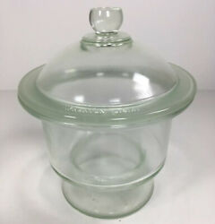 T. C. Wheaton Laboratory Glass Dessicator Jar Canister With Lid