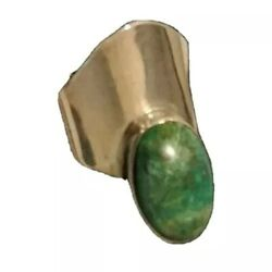 Vtg Abstract Cantilever Sterling Silver Chrysocolla Azurite Malachite Taxco Ring