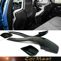 Dry Carbon Fiber Add-on Stick Back Seat Cover Kit For 2014+ F82 F83 M4 All Model