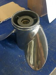 15 1/4 X 23 Stainless Steel Yamaha Prop Like New . Only Used To Test Run Boats