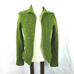 Lainey Womens Sweater Cardigan Small Cashmere Made Ireland Green Long Sleeves