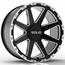 20 Solid Atomic Gloss Black 20x9.5 Forged Concave Wheels Rims Fits Hummer H2
