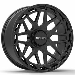 20 Solid Creed Black 20x12 Forged Wheels Rims Fits Ford F-250 F-350 88-97