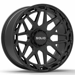 20 Solid Creed Black 20x12 Forged Concave Wheels Rims Fits Chevrolet Colorado