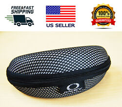 Portable Vault Half Jacket Sunglasses Case Black for Oakley Sunglass