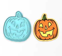 Jack O' Lantern Face Cookie Cutter And Stamp 2 | Pumpkin Halloween Autumn Carving