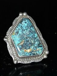 Vintage Size 6.5 Native American Southwestern Silver Turquoise Ring