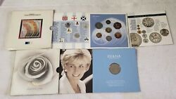 1991/97 United Kingdom/diana Princess Of Wales Unc Coin Sets Pre-owned