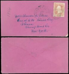 Dec 3, 1864 Annapolis Md Cds, Very Rare Purple Envelope, To Ithaca Ny, Sc 65